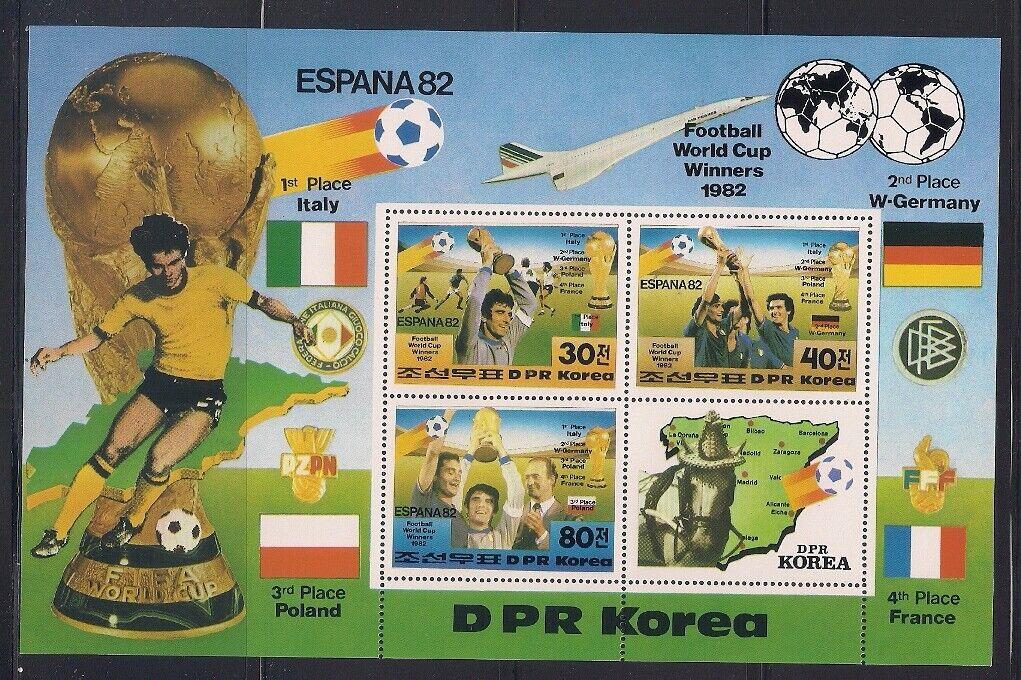 Korea... 1982 Sc 2226 W. Cup Soccer Sheet Of 3 Label MNH 47994  - $4.99