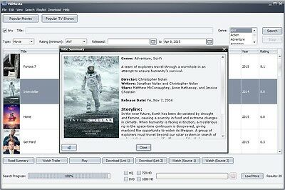 VidMasta Video Software Search Preview Watch Download Online Movies TV Shows PC for sale  Cleveland