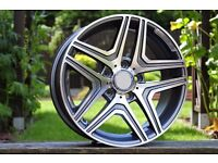 New 22 inch Rims for Mercedes G Class G63 G65 AMG 5x130 ET48 W463 style R22 UK delivery