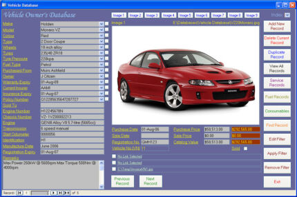 Car Maintenance Database Software - Computer Log Book for Windows Bardwell Park Rockdale Area Preview