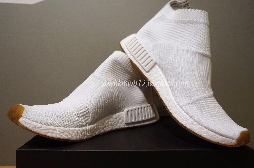 best website 7a601 56d27 Adidas NMD City Sock CS1 PK Primeknit Black White Trainer Size 4.5 UK