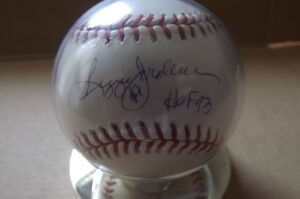 "FS: Reggie Jackson HOF ""Autographed"" Baseball with Stand London Ontario image 1"