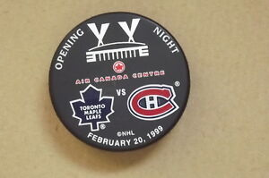 "FS: 1999 Air Canada Centre ""Opening Night"" Commemorative Puck London Ontario image 1"