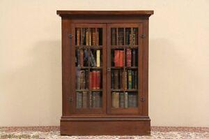 Architectural-Salvage-Pine-Craftsman-1900-Antique-Room-Divider-Bookcase