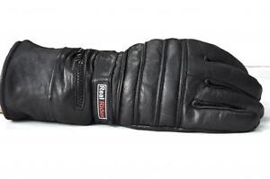 MOTORCYCLE-BIKER-LEATHER-GAUNTLET-THERMAL-INSULATED-Snowmobil-GLOVES-RAIN-COVER