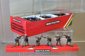 BRITAINS 6330 SUPER DEETAIL TRADE BOX of BRITISH SAS TROOPERS SOLDIERS 1978 mc