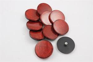 10x BICYCLE, SCOOTER,TRAILER VINTAGE STYLE ROUND REAR REFLECTORS WHOLESALE JOB