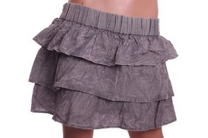 Blue-Asphalt-Junior-Womens-Stonewashed-Blue-Jean-Ruffle-Skirt-Small-Large-XL-NEW