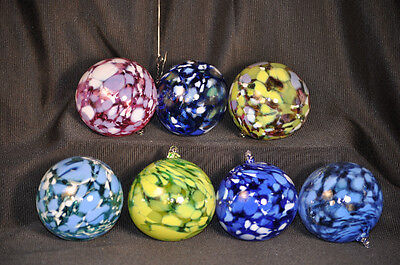 Twin Brothers Art Glass Hand Blown Christmas Ball Ornament