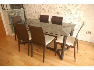 dining table glass dining table habitat. Black Bedroom Furniture Sets. Home Design Ideas
