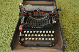 vintage 1920s corona typewriter with original bill of sale