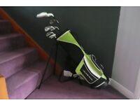 Golf Clubs with golf bag. Young Gun SGS2 Junior. 7 clubs.