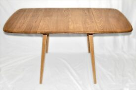 Vintage Retro 60's Ercol Windsor Rectangular Drop Leaf Plank Table - As New - Renovated