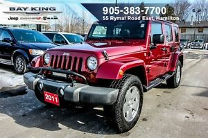 2011 Jeep WRANGLER UNLIMITED SAHARA, SIDE STEPS, PWR WINDOWS/LOC