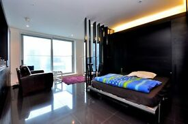 STUNNING STUDIO SUITE AVAILABLE IN CANARY WHARF / PAN PENINSULA/ E14