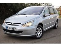 2004 Peugeot 307 SW 2.0 HDi S 5dr (a/c)+DIESEL+ESTATE+FREE WARRANTY+READY TO DRIVE AWAY