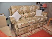 Three seater sofa plus Reclining Armchair FREE