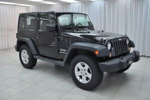 "2015 Jeep Wrangler SPORT 4x4 6-SPEED w/ HARD TOP & 17"" ALLOY WHE"