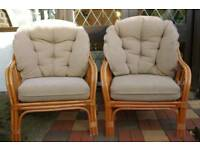 Conservatory cane chairs