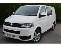 VOLKSWAGEN TRANSPORTER T30 TDI KOMBI BMT HIGHLINE 140 BHP VAN PERFECT (white) 2015