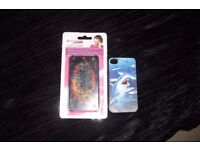 PACK OF 2 HARD BACK COVERS FOR IPHONE 4/4S BOTH WITH PRINT ON THEM