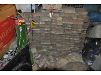 Used approx 200 paving bricks (not totally sure of total number as believe more than 200]