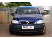 Low mileage 7 seater Vauxhall Zafira