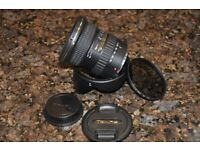 Tokina AT-X pro 11-16mm f/2.8 DX II lens marl II for canon fit