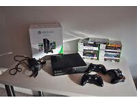 Xbox 360 E 250GB Console + 3 controllers + 23 games + HDMI cable
