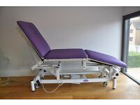 Three section electric massage table/chair