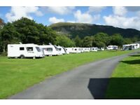 Nightly Touring Caravan Pitch Henstent Holiday Park Near Bala North / Mid Wales