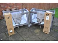Unisex Mothercare travel cots x 2 (perfect for twins or will sell separately )