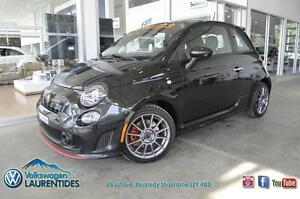 FIAT 500 TURBO 2013 **SPORT**TOIT**CUIR**AILERON**EXHAUST DOUBLE