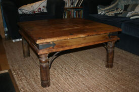 Coffee Table, square wooden rustic