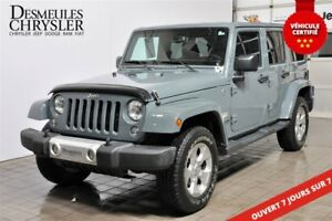 2015 Jeep WRANGLER UNLIMITED Sahara**CUIR**GPS**HITCH** SIÈGES C
