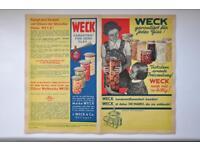 Kampf dem Verderb Werbung Original NEU 1938 WECK