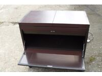 PHILIPS HOSTESS TROLLEY NO: HL6200/F MAHOGANY COLOUR TWO HEATED SHELVES EXCELLENT WORKING ORDER