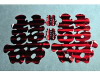 Various Red Chinese Paper Cutting Art Wedding Double Happiness