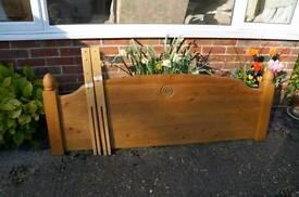 5ft solid pine headboard
