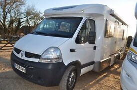 HOMECAR C62 FIXED REAR BED LOW PROFILE MOTORHOME. LOW MILEAGE.SUPERB CONDITION. 12 MONTHS WARRANTY