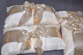3 Gold Pillows Excellent Condition