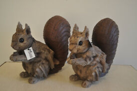wood & metal decorative squirrel