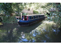 "49'9"" liveaboard narrowboat on private residential mooring in Oxford"