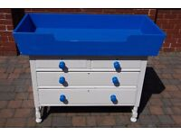 Painted Oak Chest of Drawers with Painted MDF Baby Changing Unit