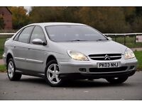 2003 Citroen C5 2.0 HDi VTR 5dr+DIESEL+FREE WARRANTY+12 MONTHS MOT+NEW CLUTCH FITTED+JUST SERVICED