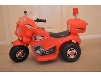 Kids Police Electric Bike Childs Ride On Battery Buggy Boys Motorbike New RED