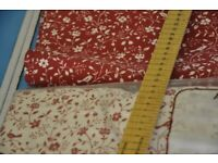Cotton Fabric at least 5m with contrast fabric piece at least 3m