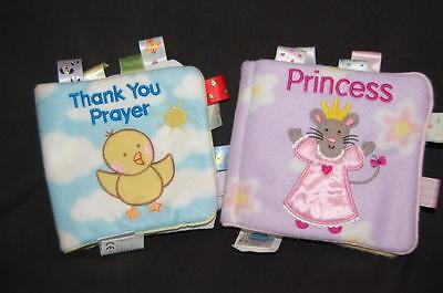 2 My First Taggies Cartwheel Books Princess Thank You Prayer Plush Fleece Child