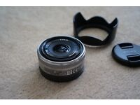 Sony SEL16F28 E Mount - APS-C 16mm F2.8 Prime Lens
