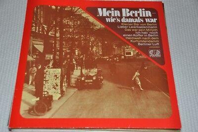 Mein Berlin, wie's damals war - Berliner Lieder - Album Vinyl Schallplatte LP